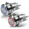 Hella Stainless Steel LED Switches - Momentary, Series 8455