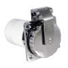 closed of Marinco 50 Amp 125/250V Stainless Steel Easy Lock Shore Power Inlet