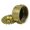 side view of Midland Metals Garden Hose End Cap with Chain- FGH