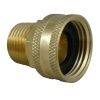 side view of Midland Metals Garden Hose Swivel - FGH x Male NPT