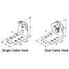 Morse Controls Dual Cable Hook