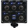 Water Resistant Toggle Switch Panel W/ USB Power Socket