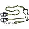 Spinlock Safety Tether - 1 Attachment Loop, 2 Safety Clips, Stretchable Safety Line