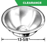 13 5/8 In Round, Self Rimming Sink