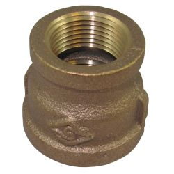 3/8X1/4IN NPT BRZ REDUCER COUPLING