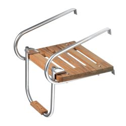displayed of Whitecap Industries Teak Step Tread for Swim Platform Ladder