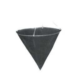 CONE SHAPE DAYMARK, 24INX24IN BLACK