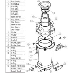 Arg Raw Water Strainer Replacement Parts Groco