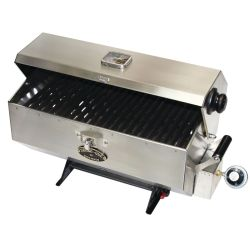 LARGE SS PROPANE BAR-B-QUE  BBQ