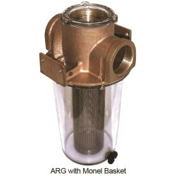 1-1/4IN BRZ SGL STRAINER W/MONEL BASKET