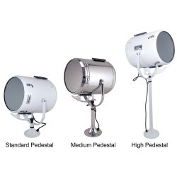 Fig. 885 Wheel or Lever/Gear Control Solar-Ray® Searchlight Head Assemby and Pedestal