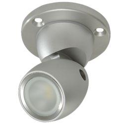 GAI2 Directional LED Light with Heavy Duty Base - Brushed Aluminum, No Switch