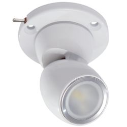 GAI2 Directional LED Light with Heavy Duty Base - White Finish, with Switch