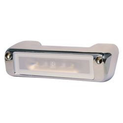 Perimeter LED Flood Light - White Finish/Chrome Trim