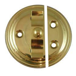 Brass Turn Button on Plate