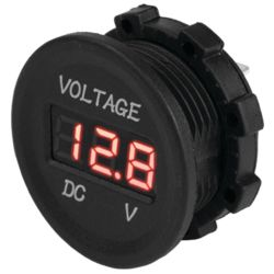 Round Digital Voltage Meter - 4-30V DC