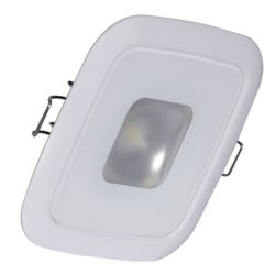 "2-5/8"" Square Mirage LED Recess Down Light - White"