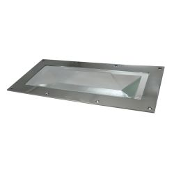 "2411-ss-225 of Davey & Co. Rabetted Stainless Steel Rectangular Deck Prism - 4-7/8"" x 10-1/4"" Overall"