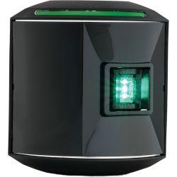 Series 44 LED Navigation Light - Starboard, Black Housing
