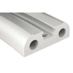 binoX 50 Stainless Steel Rubrail - White PVC Base Component