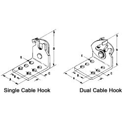 DUAL CABLE CLIP F/30 SERIES