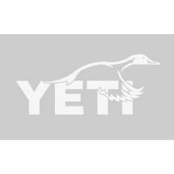white of Yeti Coolers Pintail Duck Window Decal