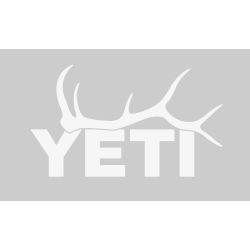 white of Yeti Coolers Elk Antler Window Decal