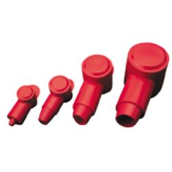 PVC TERMINAL CAP  RED  2-2/0