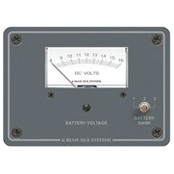 DC Analog Voltmeter Panel