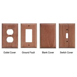 Teak Blank Outlet Covers