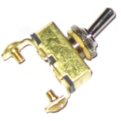 Off-On Brass Toggle Switch