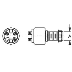 Three Position Ignition Switch: 3 Screw Terminal