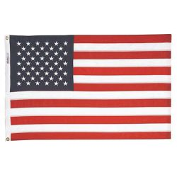12INX18IN SEWN U.S. FLAG-NYLON