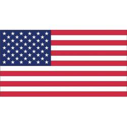 12INX18IN PRINTED U.S. FLAG-NYLON