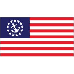 2-1/2FTX4FT SEWN U.S. YACHT ENSIGN