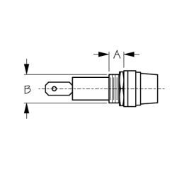 Round Fuse Holder - Spade Terminal
