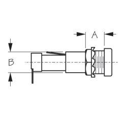 Round Fuse Holder w/ Flush Cap - Spade Terminal