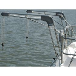 1-1/4IN DAVIT MT SET W/STRUT MOUNTS