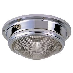 6IN CHR BRZ LED DOME LIGHT SURFACE MT