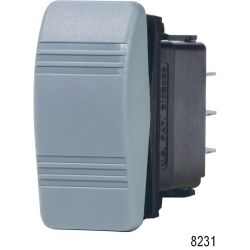 Gray Water Resistant Contura Rocker Switches, DPDT / (ON) - OFF - ON