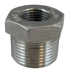 1/4X1/8IN NPT SS HEX BUSHING