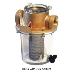 3/4IN BRZ SGL STRAINER W/SS BASKET