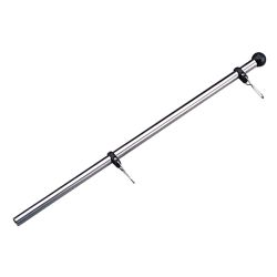 S.S. ADJUSTABLE FLAGPOLE 1/2IN X 17IN