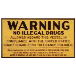Drug Warning Plaque