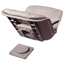QD SWIVEL SEAT GRAY W/GRAY CUSHION