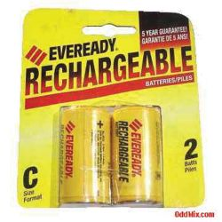2 PACK C CELL NICKELHYDRIDE RECHARG