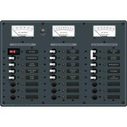 AC Main + 6 Position ⁄DC Main + 15 Positions Circuit Breaker Panel