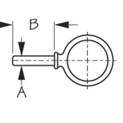 Round Oarlock - Galvanized Iron