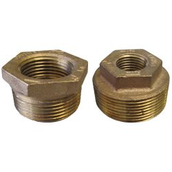 1-1/2X1IN NPT BRZ HEX BUSHING