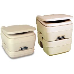 SaniPottie 960 Series Manual Bellows Flush Portable Toilets - Pour to Empty